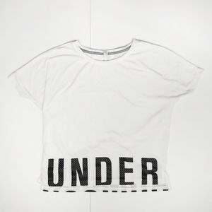 UNDER ARMOUR Heat Gear Loose White T-Shirt